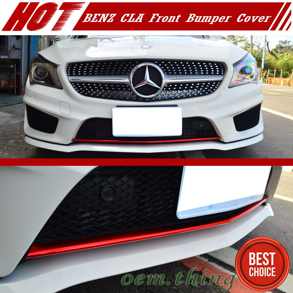 Stock Usa Paint Red Metal Mercedes Benz Cla W117 Front Bumper Lip Cover Ebay