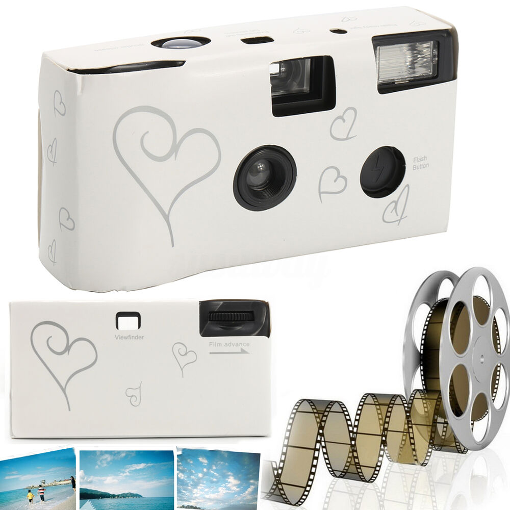 Wedding Disposable Cameras: Pack Of 10/20 Hearts Disposable Camera With Flash 36exp