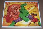 Vintage original 1980 Marvel Comics 14 by 11 Hulk comic book art poster print 1