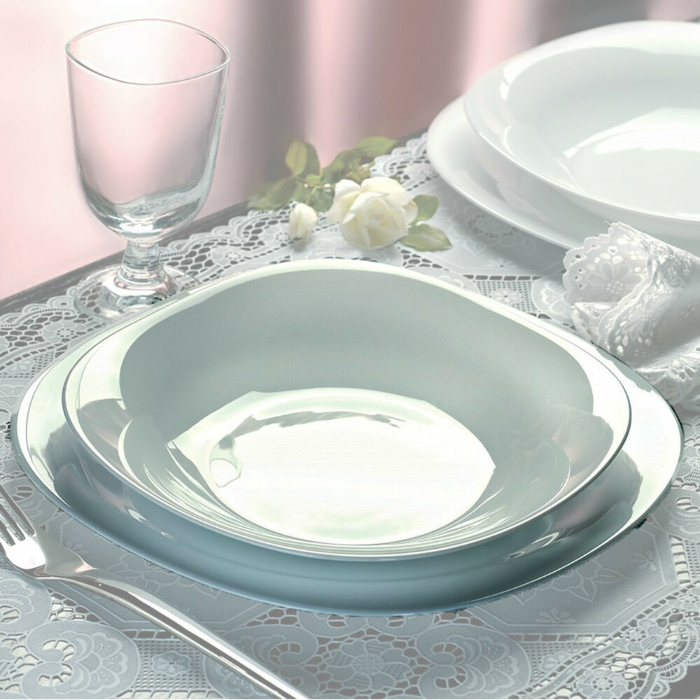 Bormioli Rocco Parma 19 Pcs Dinner Service Set Opal Glass ...