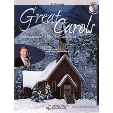 Great Carols Trumpet Solo Christmas Sheet Music Play-Along Book CD Pack NEW
