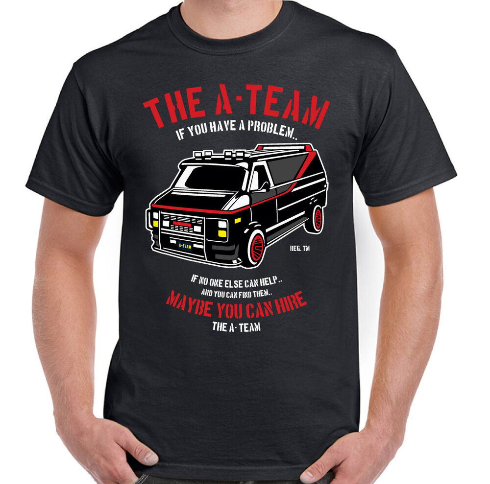 the a team van mens funny 80 39 s tv programme t shirt show. Black Bedroom Furniture Sets. Home Design Ideas
