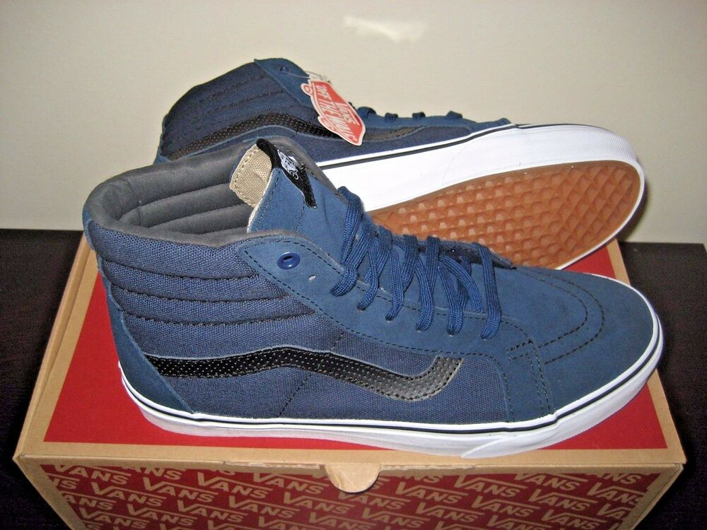 6ea0477628 Details about Vans Sk8-Hi Reissue Mens C P Dress Blues Black Skate shoes  Size 11 VN0004OKJUJ