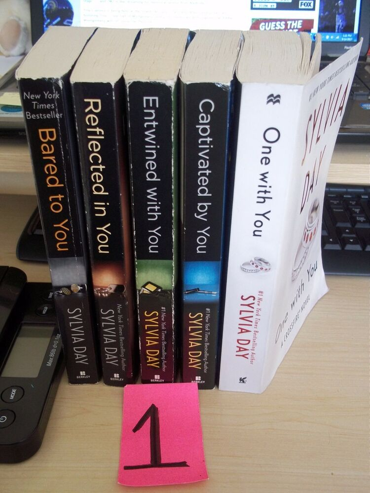 5 Books Sylvia Day Crossfire Series Bared Reflected Entwined