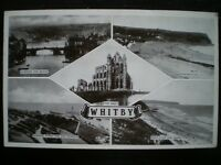 POSTCARD - RP 5 MULTI VIEWS OF WHITBY YORKSHIRE