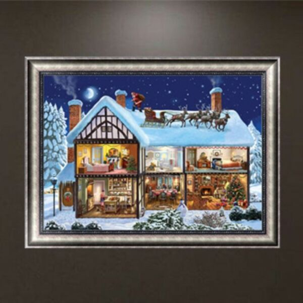 Christmas House Embroidery 5D Diamond Painting DIY Cross Stitch Home Decor Craft