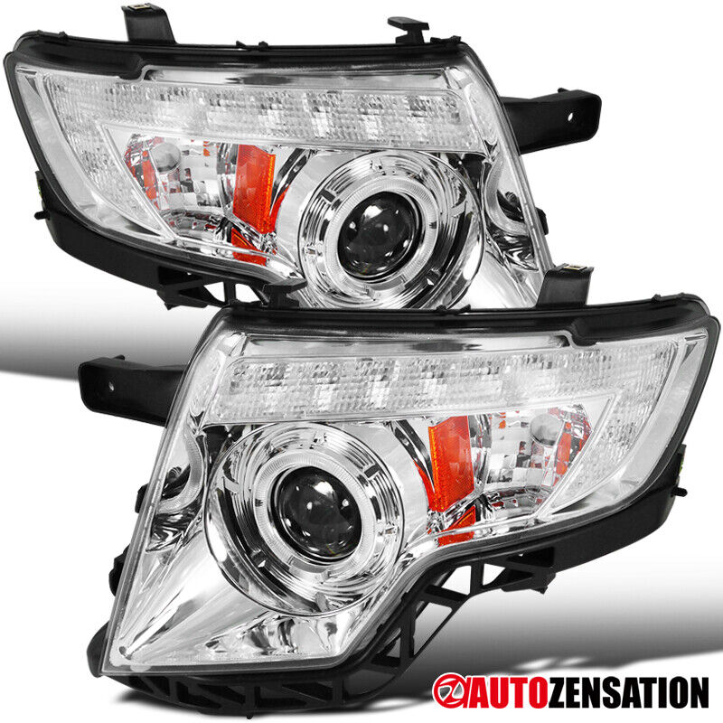 2007-2010 Ford Edge Replacement Chrome Clear Halo LED