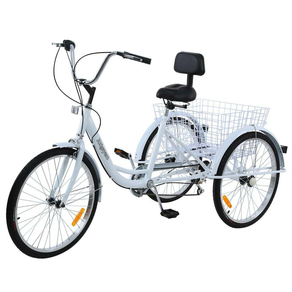 tricycle pour adultes 24 adult tricycle seniors shopping bike tricycle v lo ebay. Black Bedroom Furniture Sets. Home Design Ideas
