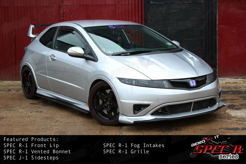 aerokit r1 pare choc bodykit calandre civic type r fn2 fk fn blanc ebay. Black Bedroom Furniture Sets. Home Design Ideas