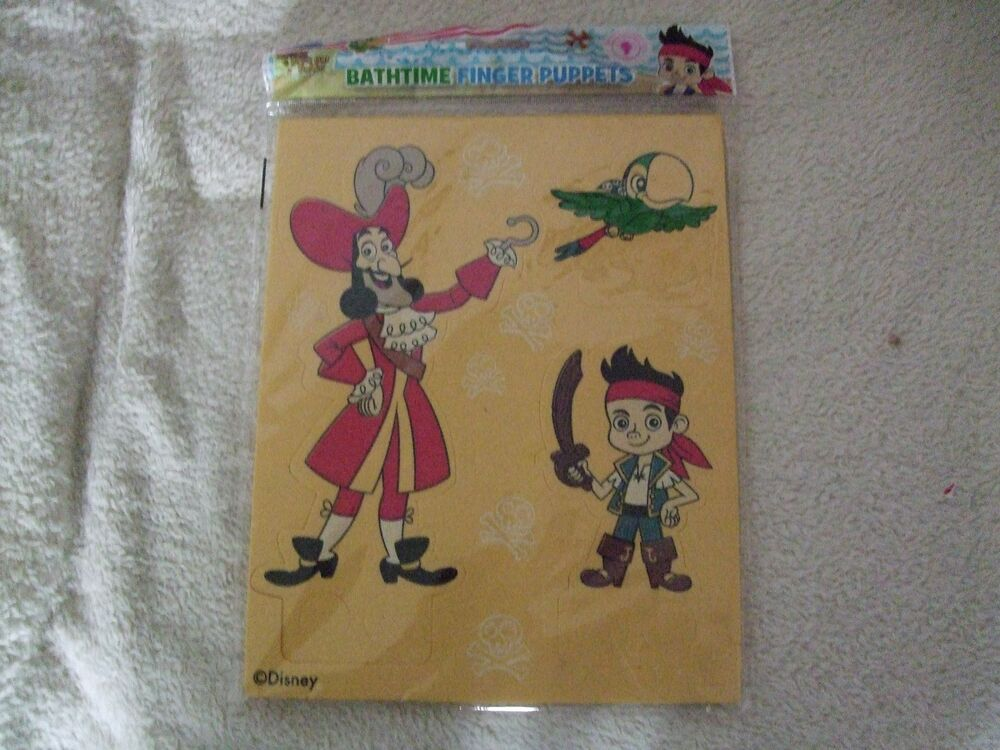 New Disney Junior Jake & The Neverland Pirates Bath Time Finger ...