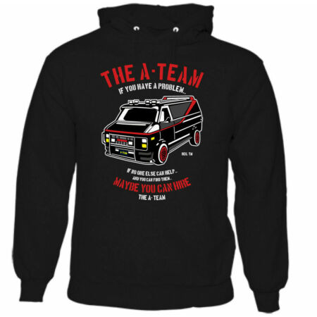 img-The A-Team Van Mens Funny 80's TV Programme Hoodie Mr-T Show