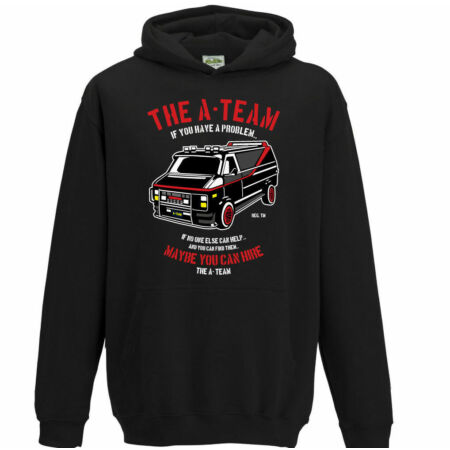 img-The A-Team Van Kids Funny 80's TV Programme Hoodie Boys Girls Mr-T