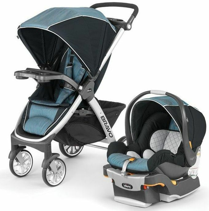 Chicco Bravo Trio 3-in-1 Baby Travel System Stroller w ...