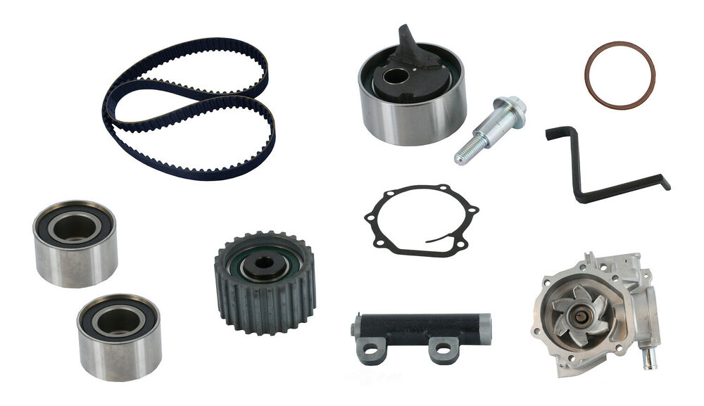 engine timing belt kit with water pump crp fits 90