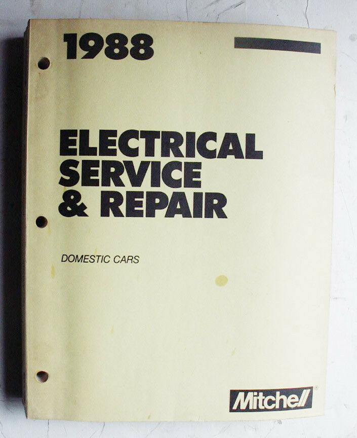 1988 Domestic Cars Mitchell Electrical Service  Repair  U0026 Wiring Diagrams Manual