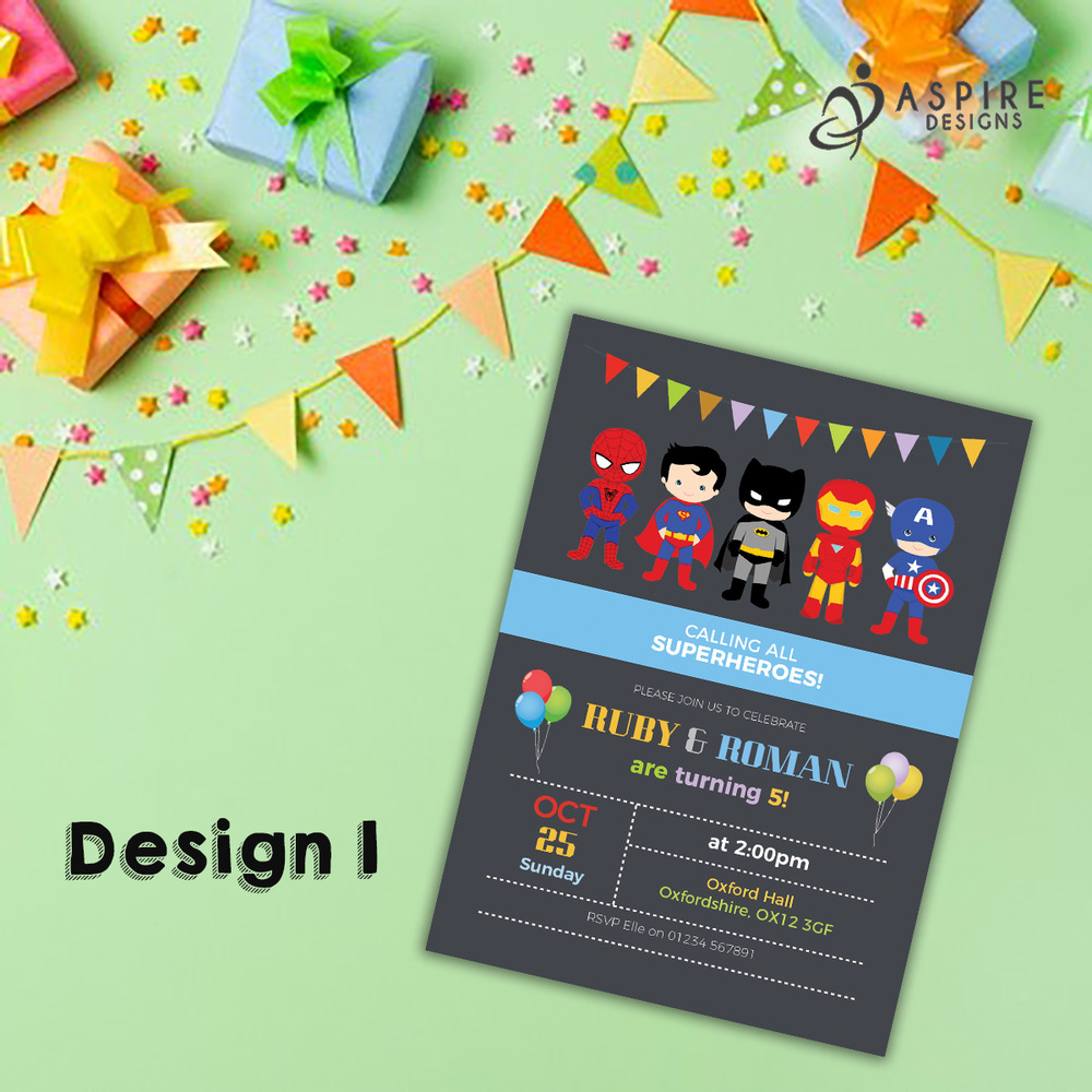 Details About Personalised Superhero Party Invites