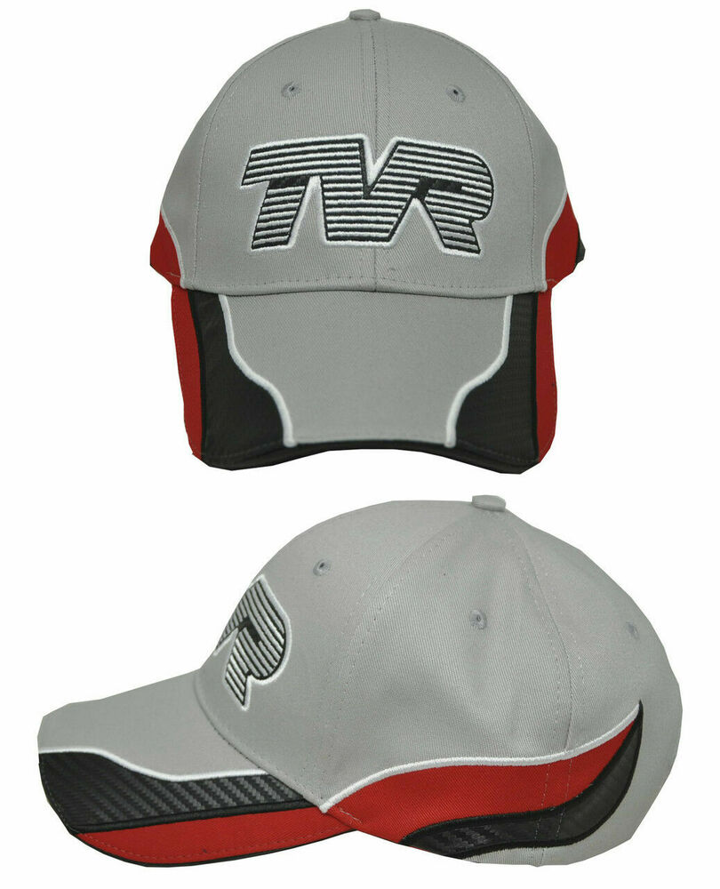 Details about Grey Red   White Cotton TVR Logo Baseball Cap Official  Merchandise Car Classic c4b93c20f99