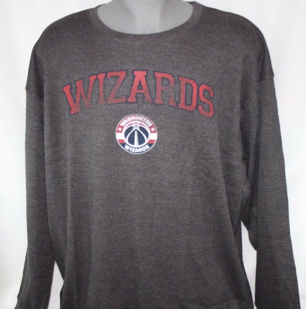 8c1655b9 Details about NEW Mens MAJESTIC Washington Wizards Long Sleeve Big and Tall  NBA Thermal Shirt