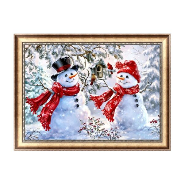 5D DIY Diamond Painting Christmas Snowman Cross Embroidery Stitch Decor Home Art