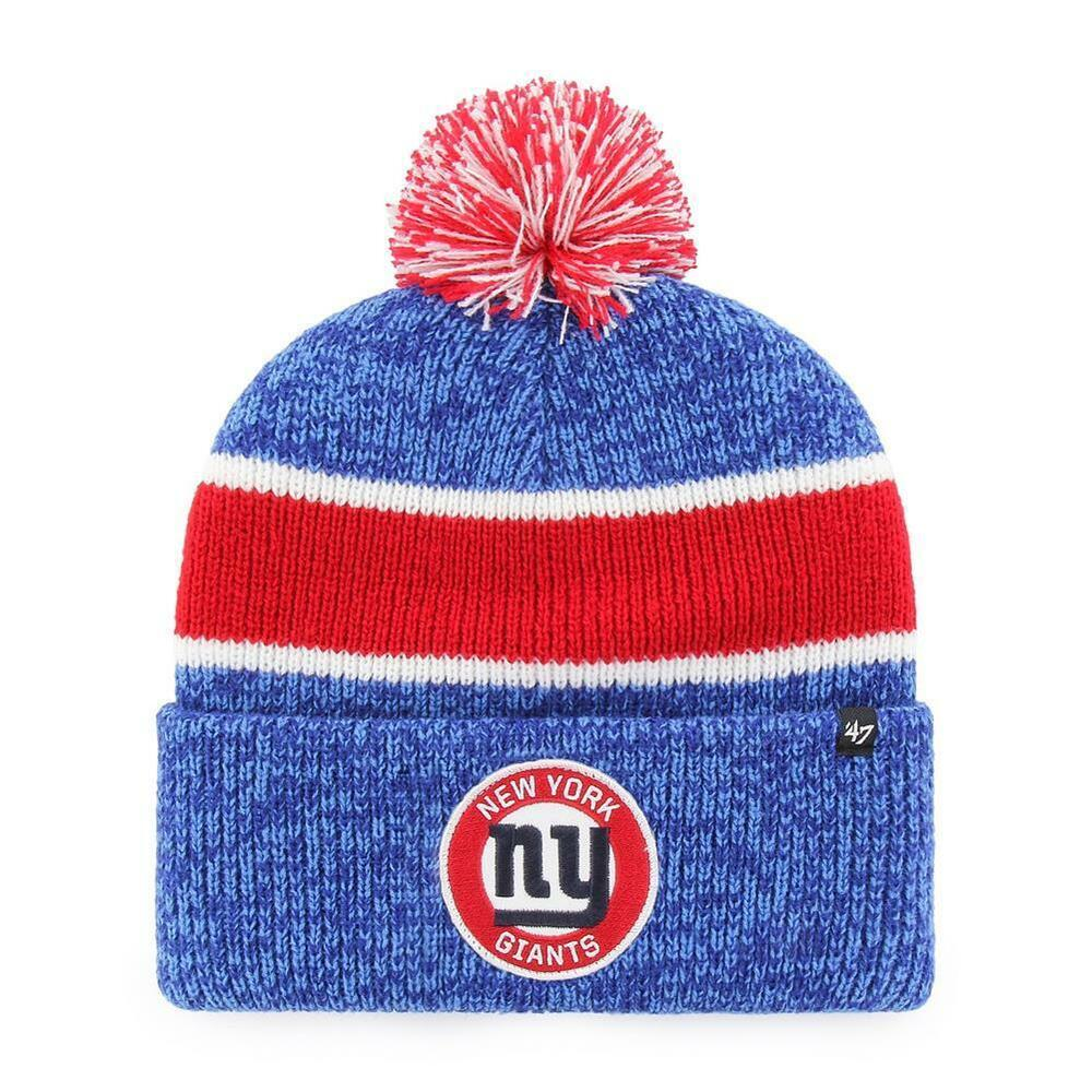 5a6225399 Details about 47 Brand NFL Noreaster Cuff Winter Knit Hat New York Giants