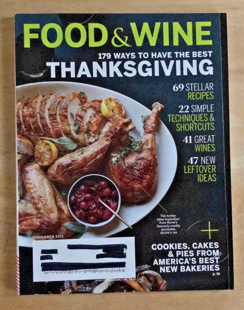 Food wine magazine 2015 thanksgiving recipes tyler florence shona food wine magazine 2015 thanksgiving recipes tyler florence shona rhimes ebay forumfinder Image collections