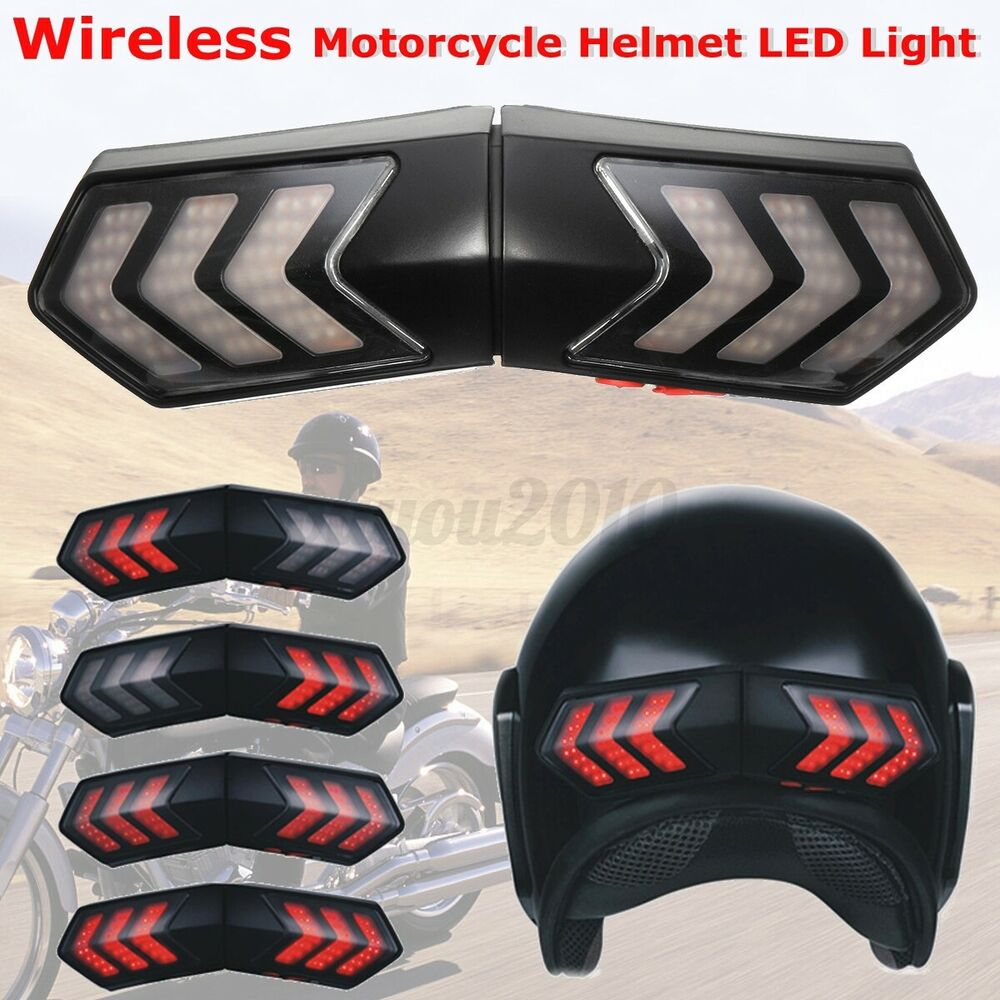 Motorcycle Helmet Wireless Led Safety Brake Stop Amp Turn