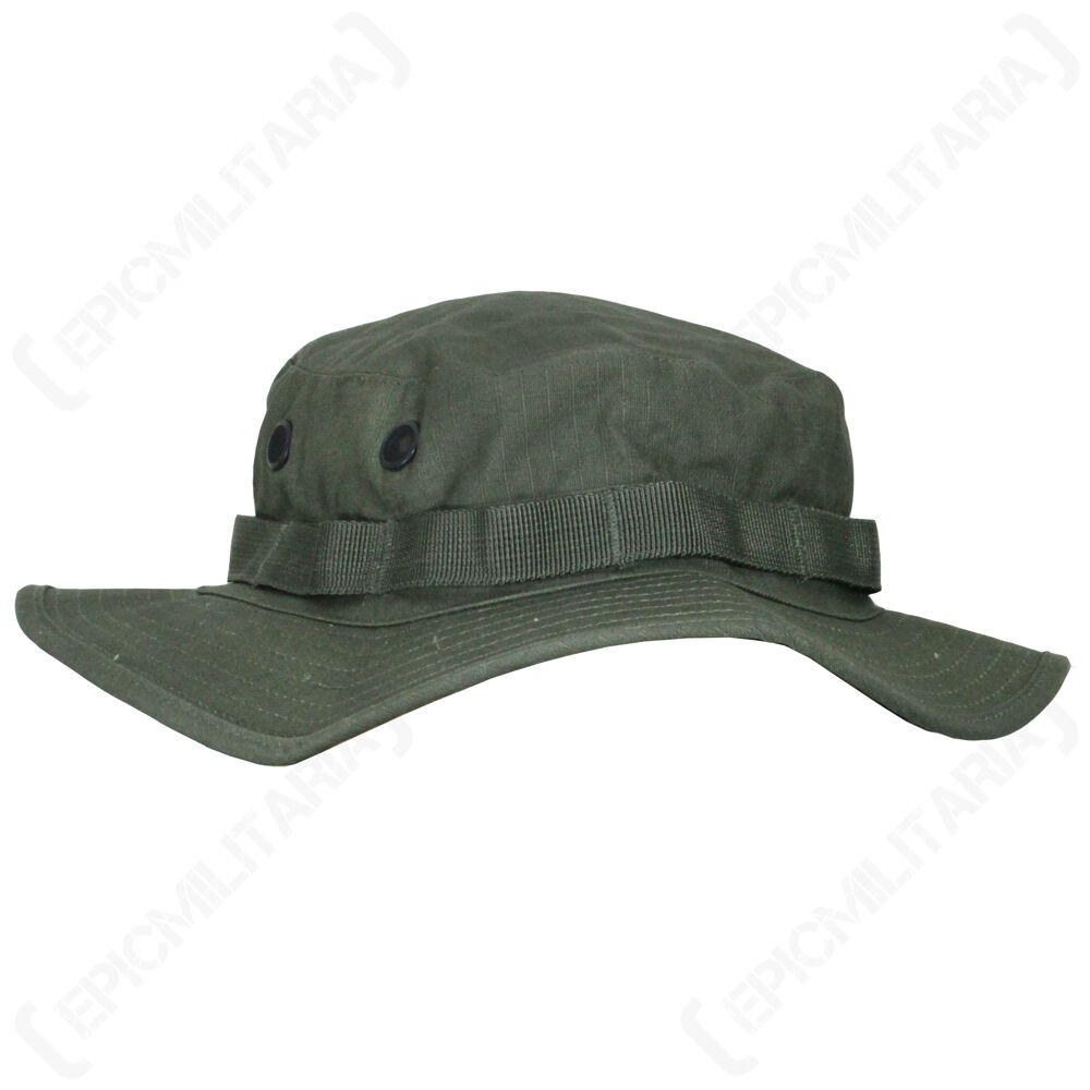 81cfe27ef41 Details about US Olive Green Boonie Jungle Cap - All Sizes Military Army  Vietnam Sun Hat Bush