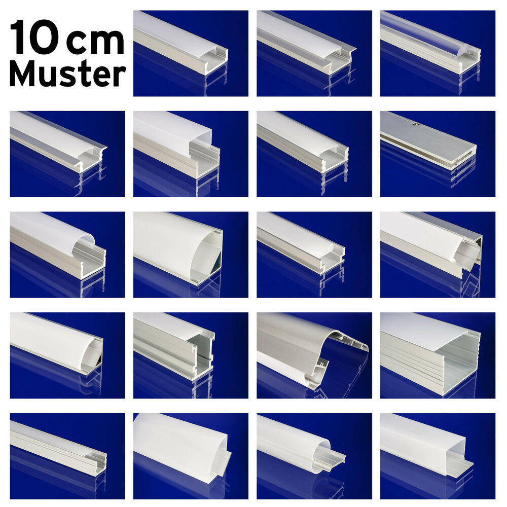 10 m muster 10 cm alu profil eck leiste winkel schiene ip65 outdoor led strips ebay. Black Bedroom Furniture Sets. Home Design Ideas