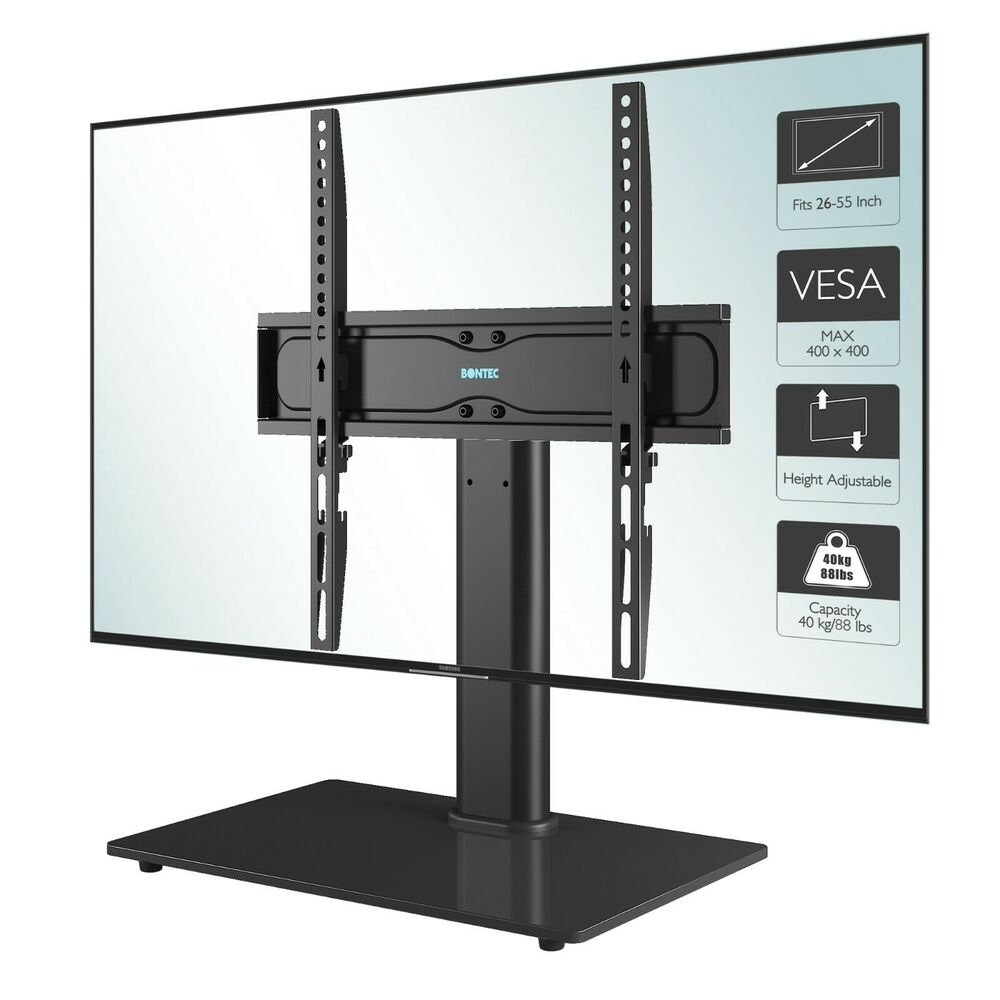 Universal Table Top Pedestal TV Stand With Bracket For 32