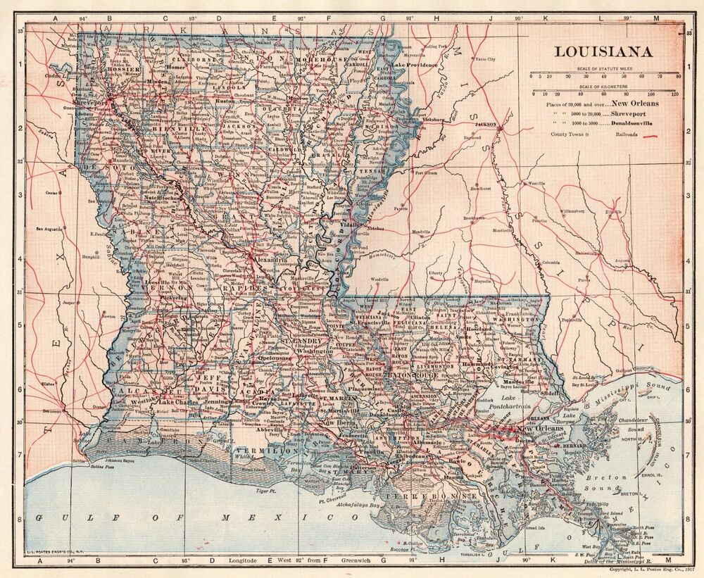 This is a picture of Insane Printable Map of Louisiana