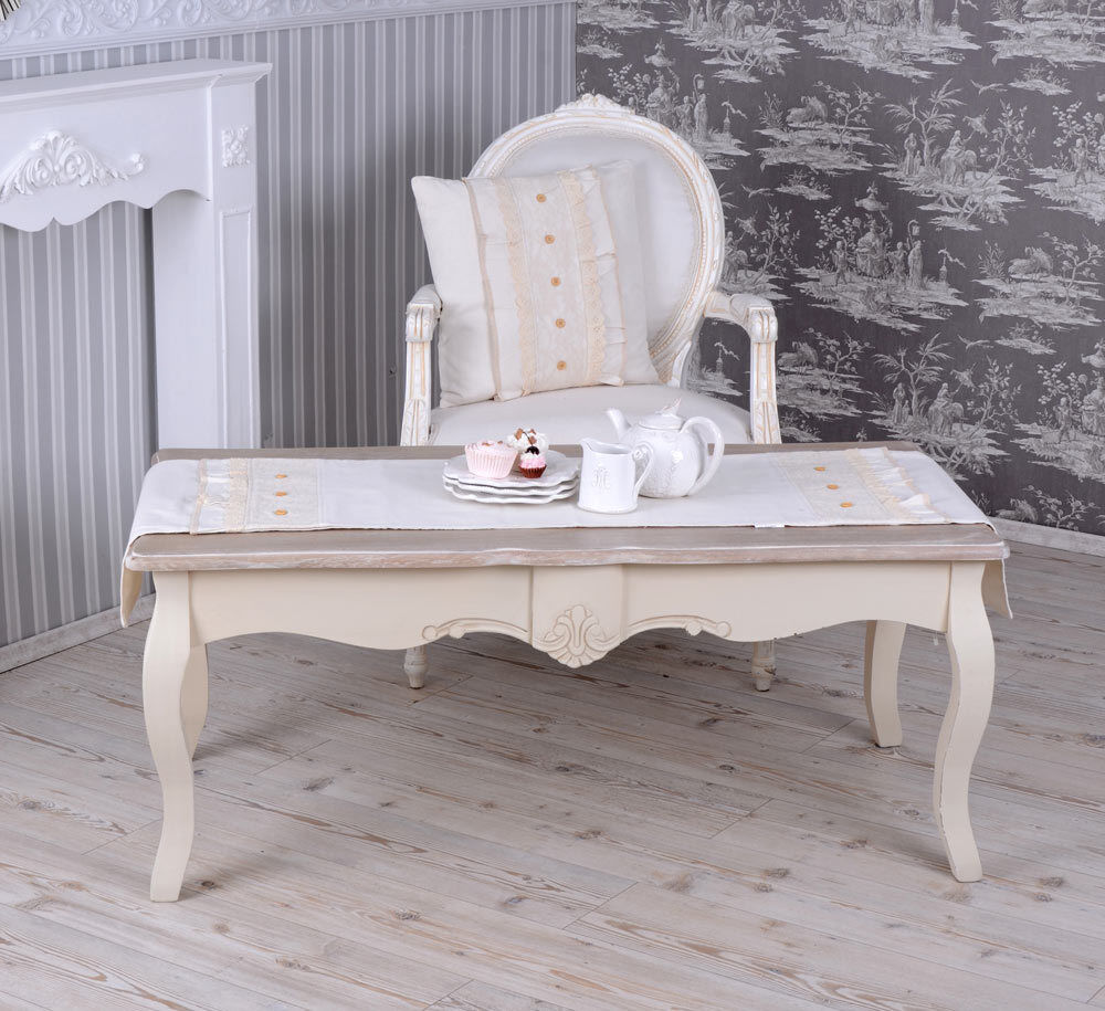 wohnzimmertisch shabby chic tisch couchtisch holztisch weiss kaffeetisch neu ebay. Black Bedroom Furniture Sets. Home Design Ideas