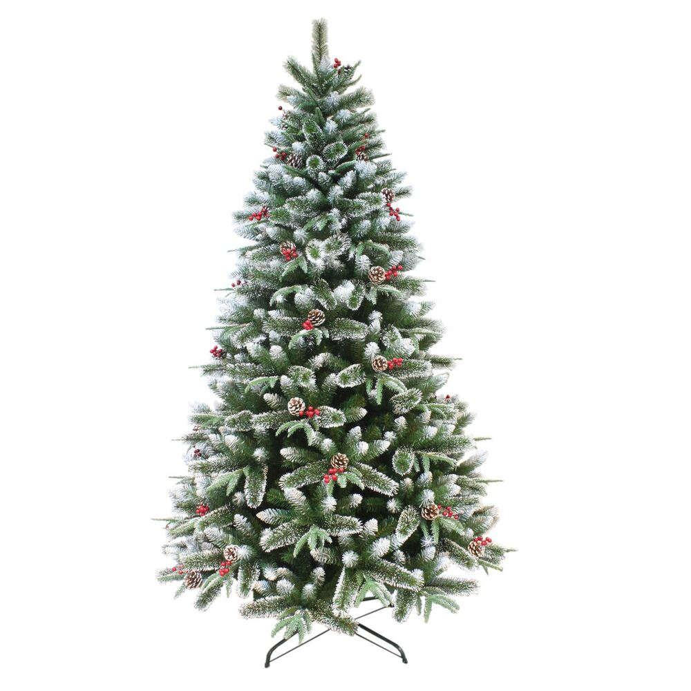 Gorgeous Luxury Snow Frosted Mixed Pine Artificial ...