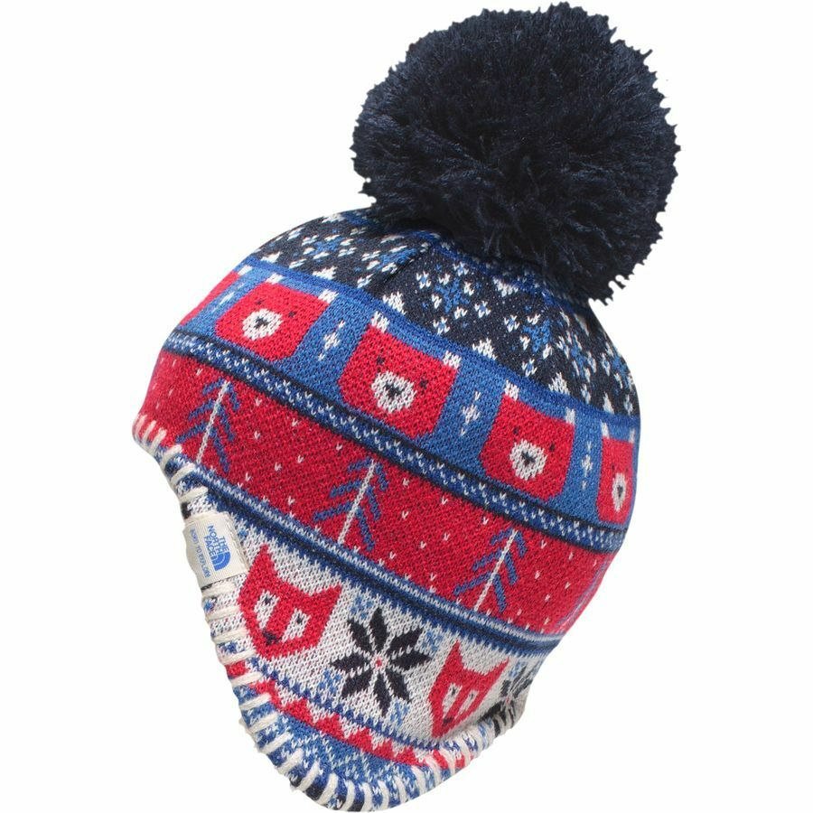 Details about The North Face Babies Boys  BABY FAROE BEANIE Hat Fleece  Lined Cap Blue XXS 0-6M 88027abbe3a