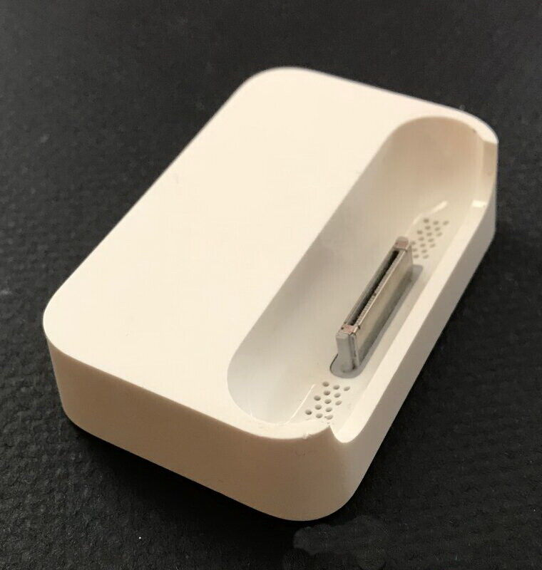 genuine apple iphone 2g 4 4s white desktop charging dock sync station pod ebay. Black Bedroom Furniture Sets. Home Design Ideas