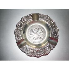 Holland ~ The Civil War Centennial 1961 - 1965 ~ Silver Plate ~ Vintage Ashtray