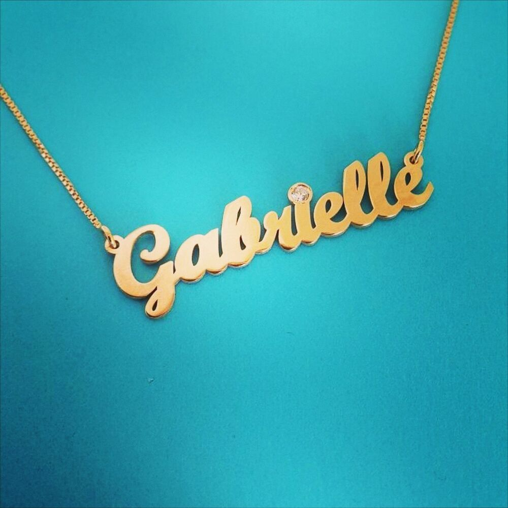 Necklace With Name On It Real Gold