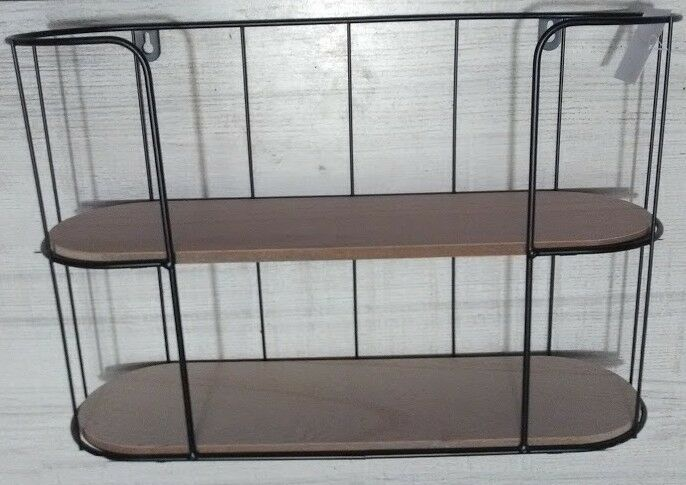 n etagere murale bois fer forge imprimeur epice cuisine industriel salle bain 86 ebay. Black Bedroom Furniture Sets. Home Design Ideas