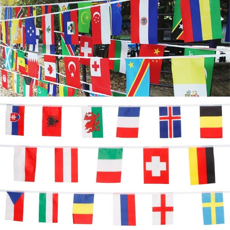 679dbbee951e Details about International String Banners 24 Countries Flags Garland For  Bar Party Events