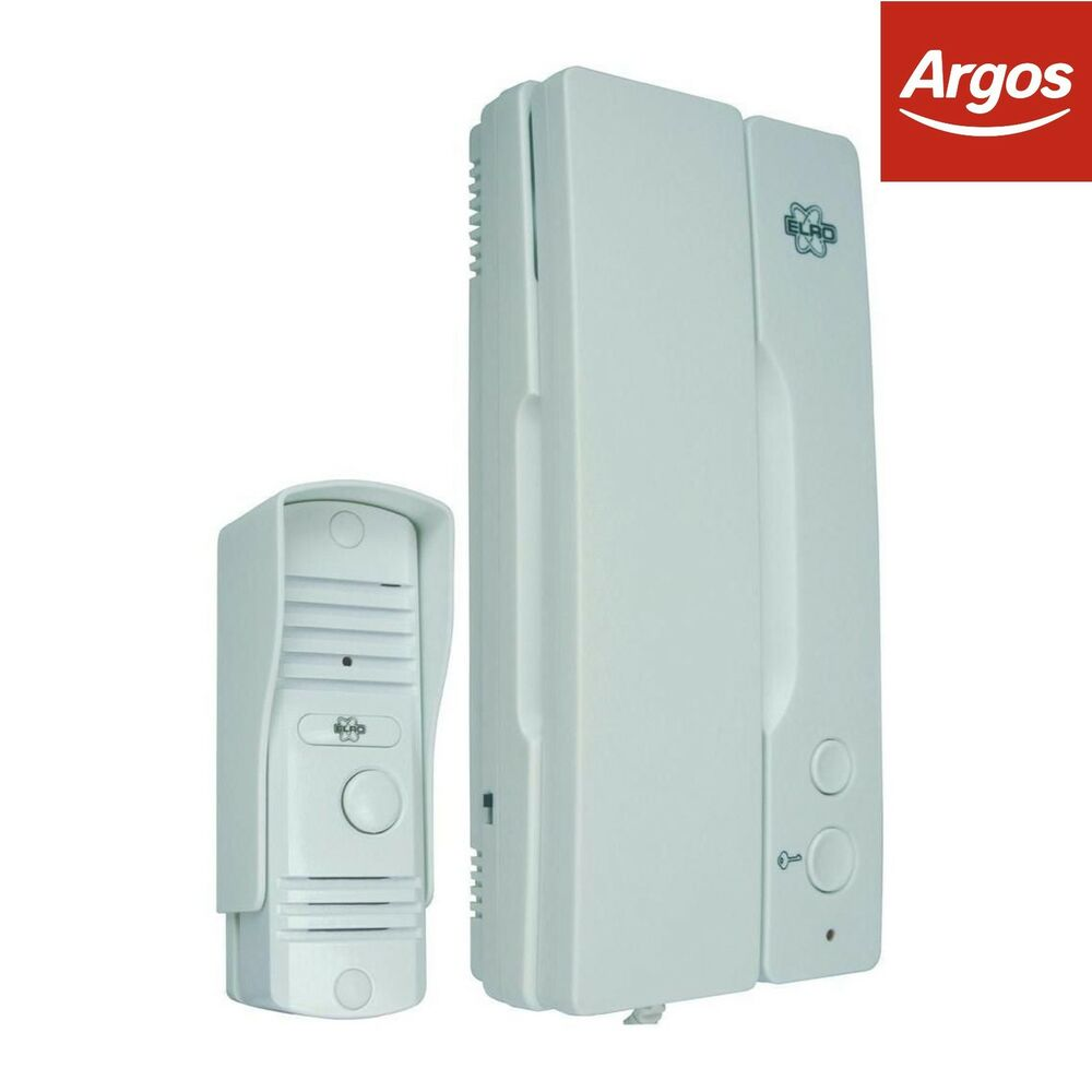 Elro Wired Intercom with Slim Metal Bell Push -From the Argos Shop ...
