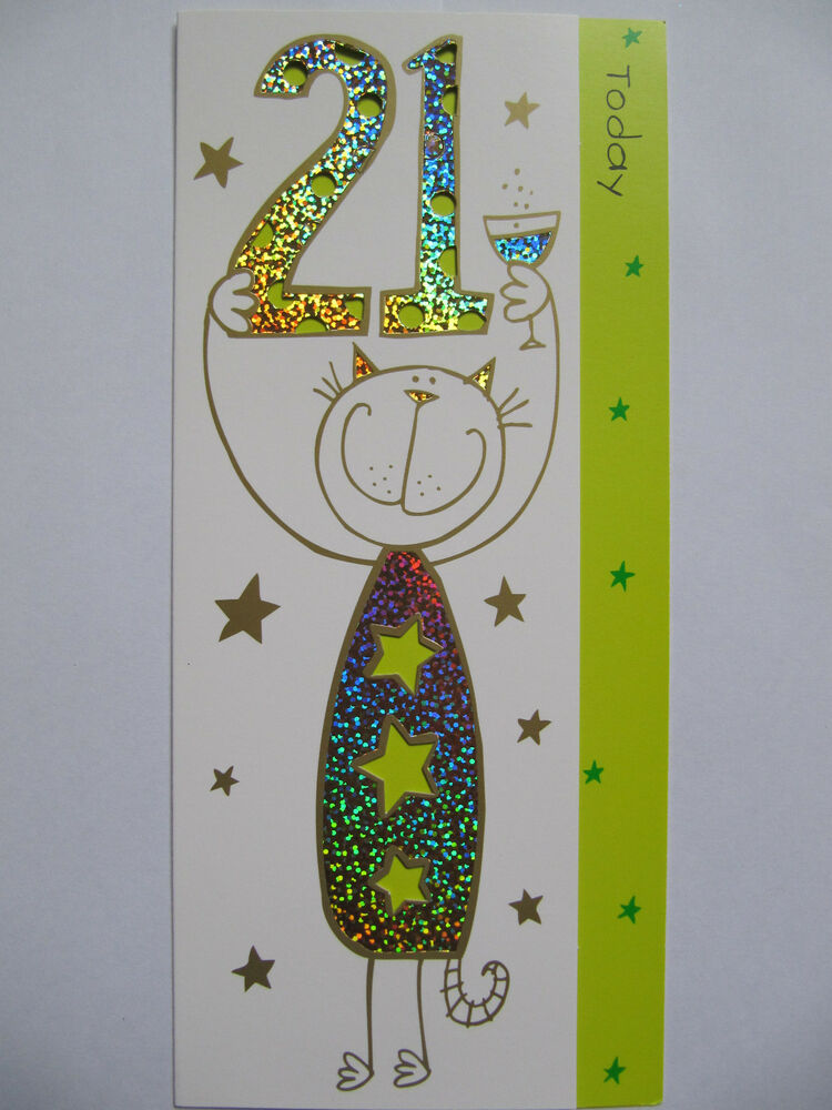 Details About BRILLIANT COLOURFUL CUT OUT 21 TODAY 21ST BIRTHDAY GREETING CARD
