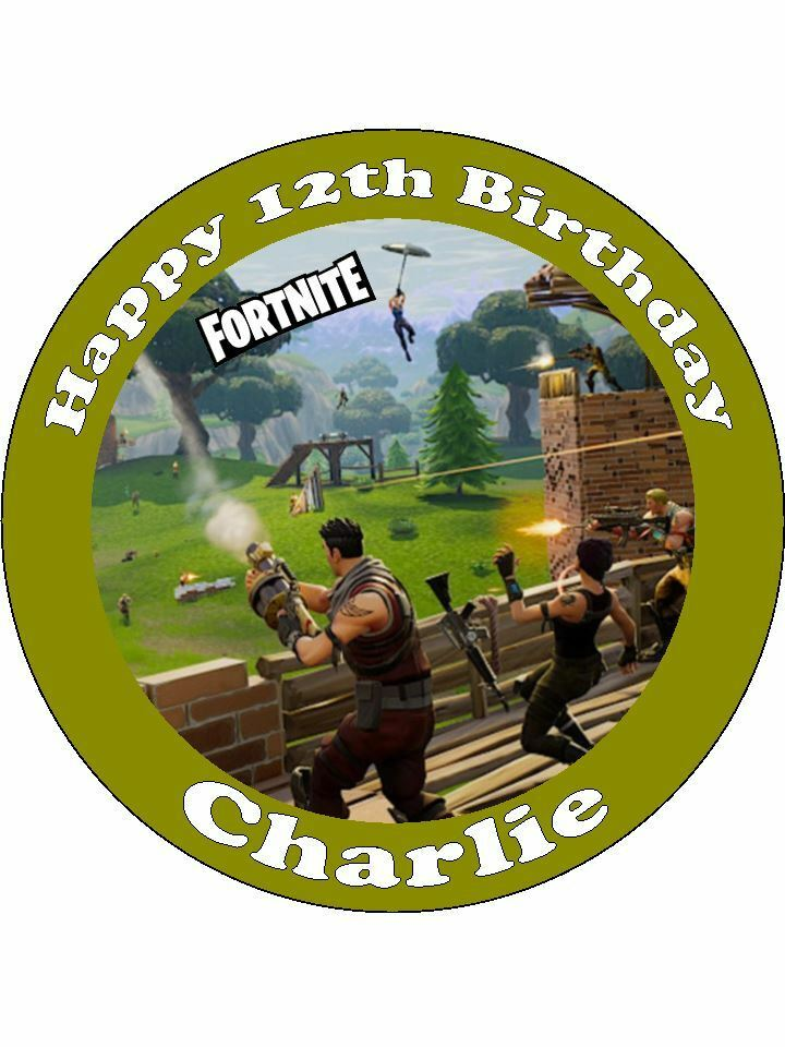 Personalised Fortnite Battle Royale Game Icing Birthday