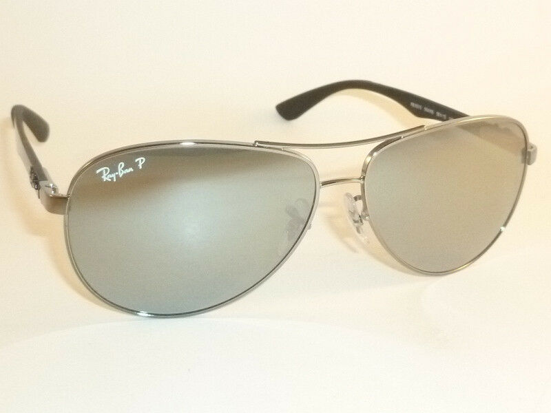 532667b992 Details about New RAY BAN Sunglasses TECH Gunmetal RB 8313 004 K6 Polarized  Silver Mirror 61mm