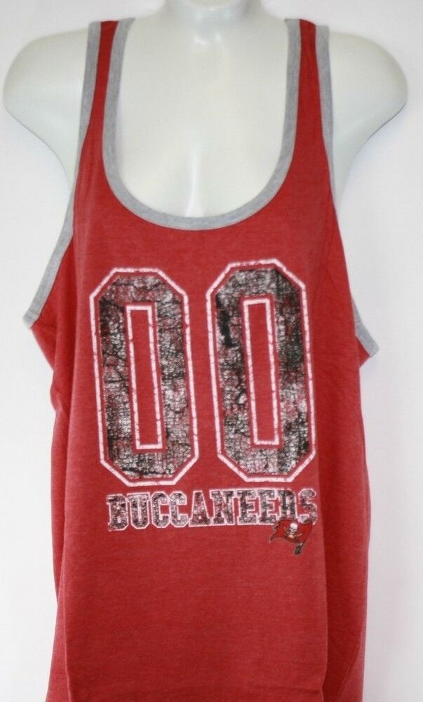 e4d36893 NEW Womens NFL Apparel Tampa Bay Buccaneers 00 Red Tank Top Football ...