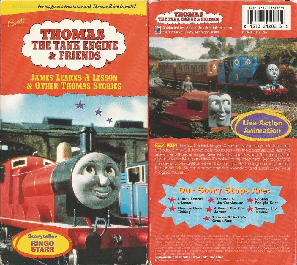 Rare Vintage Thomas Train Tank Engine Friends James Learns A Lesson VHS Video