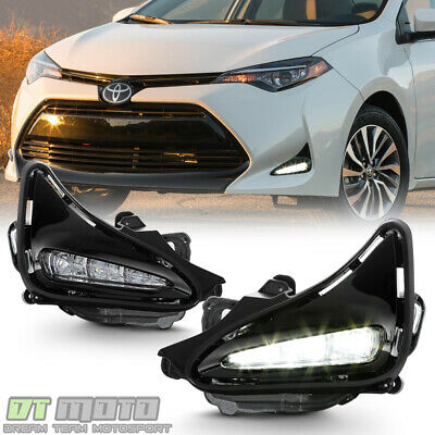 For 2017-2019 Toyota Corolla LED Bumper Fog Driving Lights w/Switch Left+Right