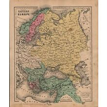 1860 Two-Sided Original J H Colton Map Eastern Europe/Asia