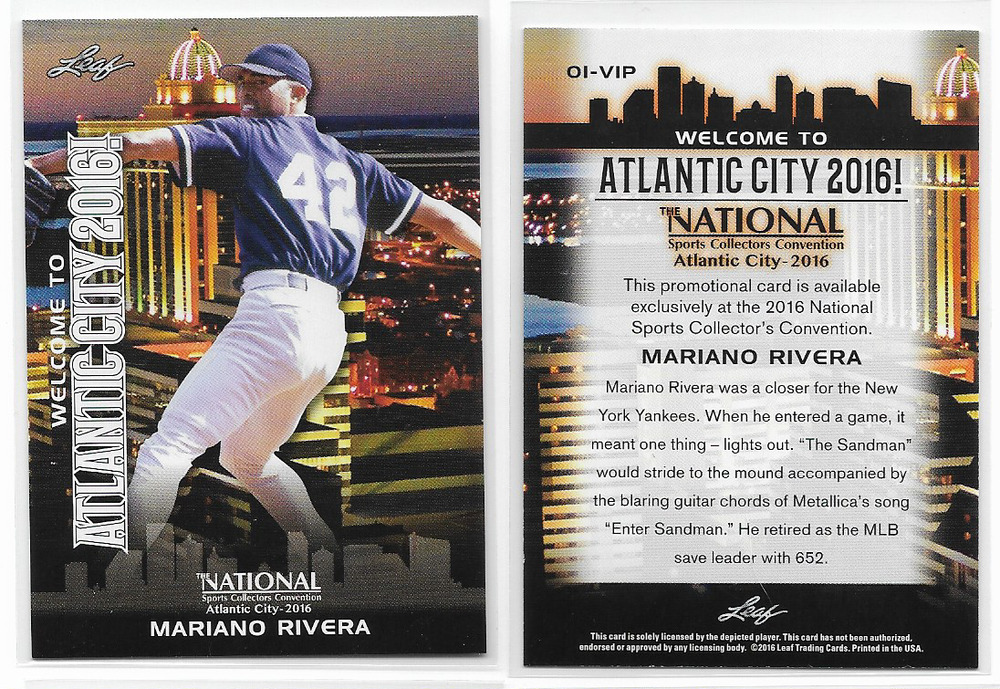 Mariano Rivera 2016 Leaf Atlantic City National Collectors