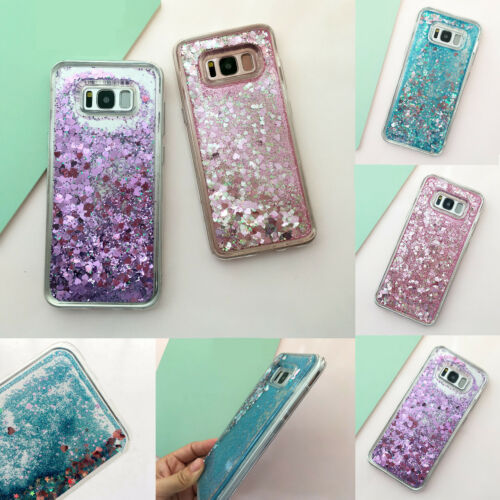 Bling Hybrid Liquid Glitter Rubber Phone Case Cover For Samsung Galaxy S10 S7 S8