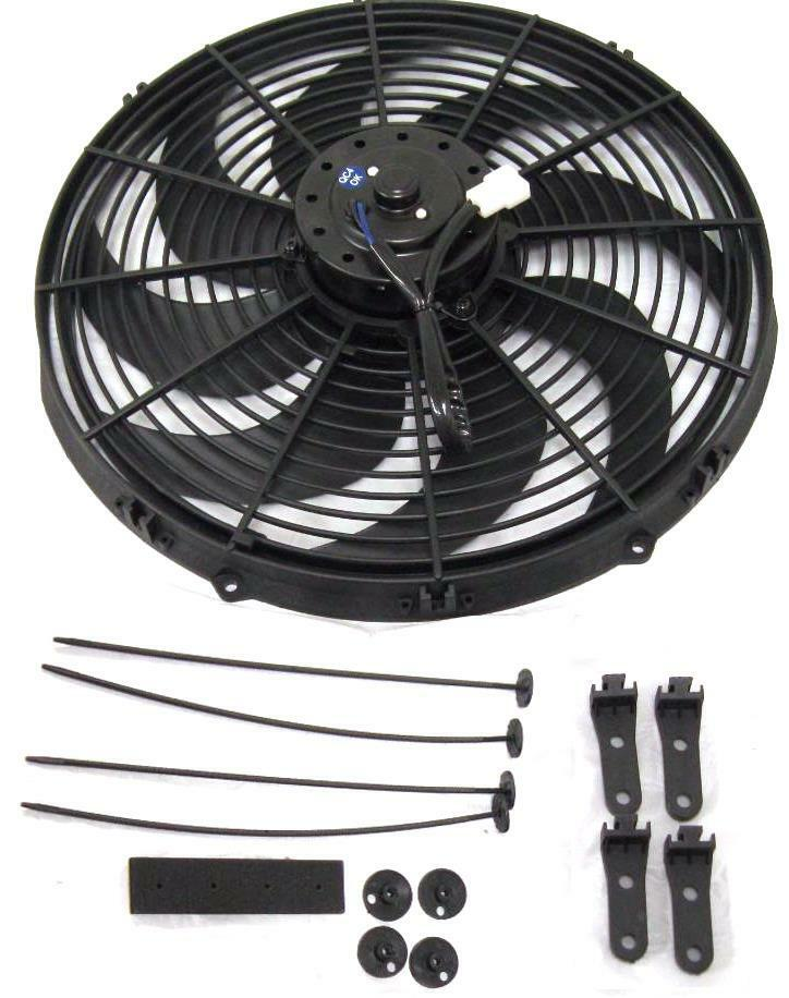 Details About 16 Inch Electric Radiator Fan Pusher Puller 120w High Motor 3000 Cfm