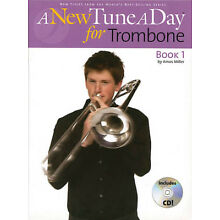 A New Tune A Day for Trombone Book 1 Beginner Lessons Learn How to Play CD NEW
